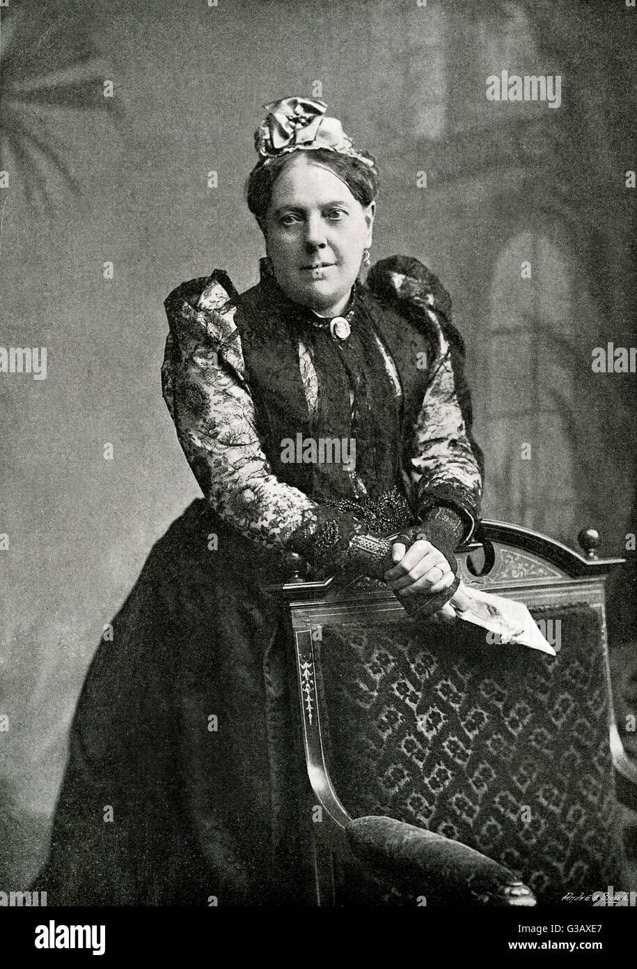 MRS ALEXANDER  author of some 50 novels under  the name of 'MRS ALEXANDER'       Date: 1818 - 1895 - Stock Image