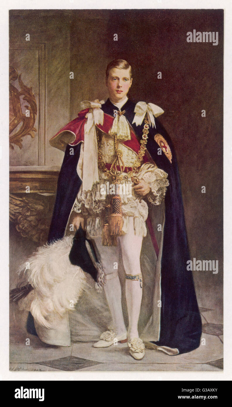 EDWARD VIII as Prince of Wales  in full regalia       Date: 1894 - 1972 - Stock Image