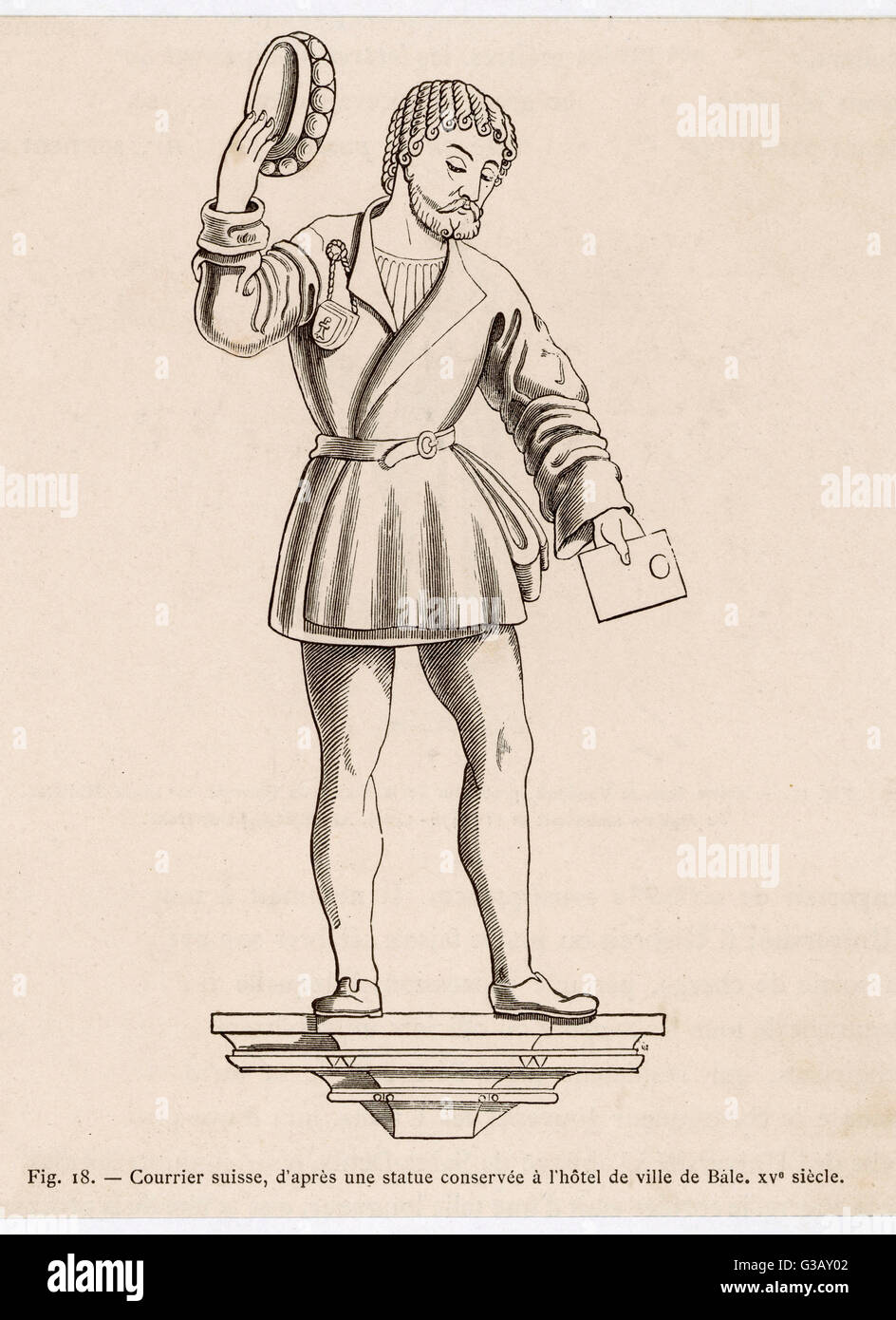 A Swiss courier.          Date: 15th century - Stock Image