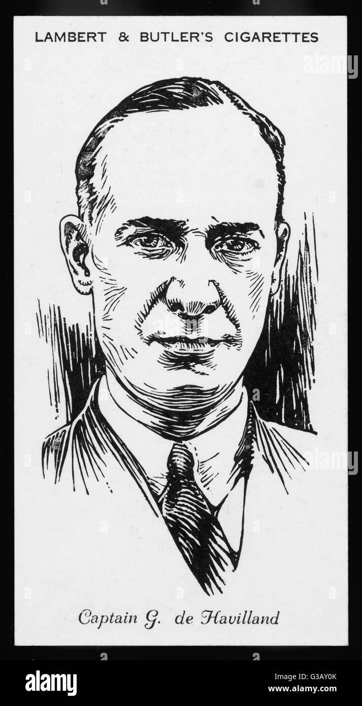 Sir Geoffrey De Havilland,  British aviator and  aeronautical engineer in 1935      Date: 1882 - 1965 - Stock Image