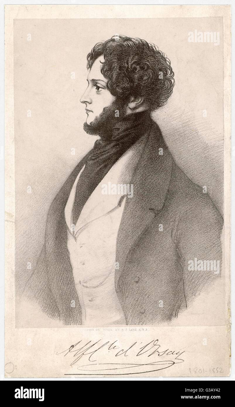 Alfred, COUNT D'ORSAY  artist, dandy and wit        Date: 1801 - 185 - Stock Image