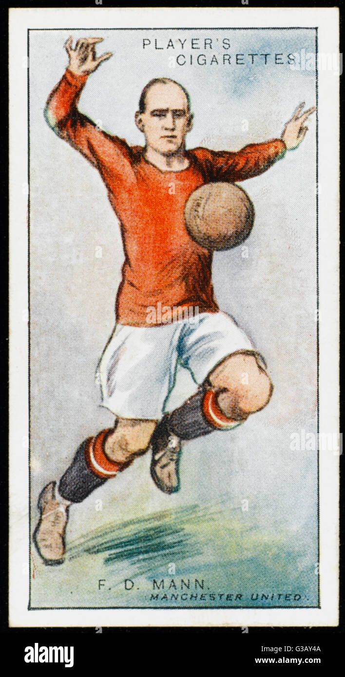 Frank D Mann, defender for Manchester United        Date: 1928 - Stock Image