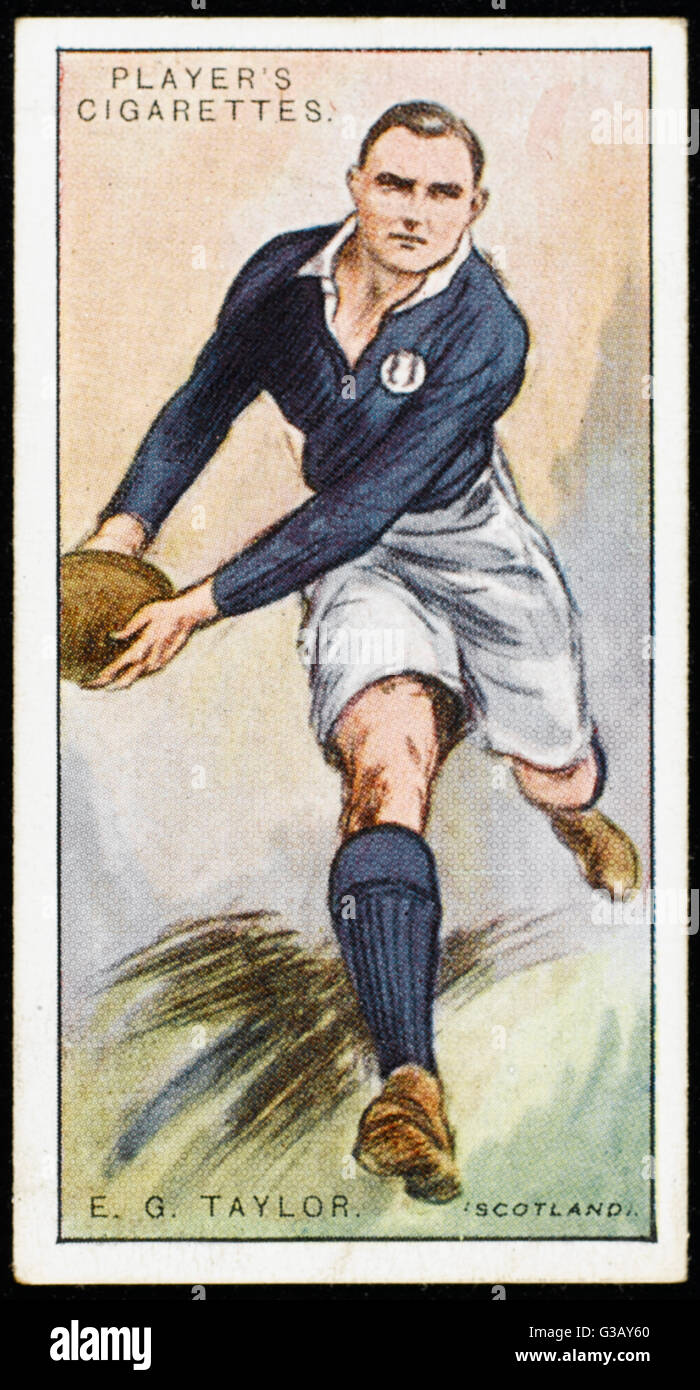 E G Taylor, player for Oxford and Scotland        Date: 1928 - Stock Image