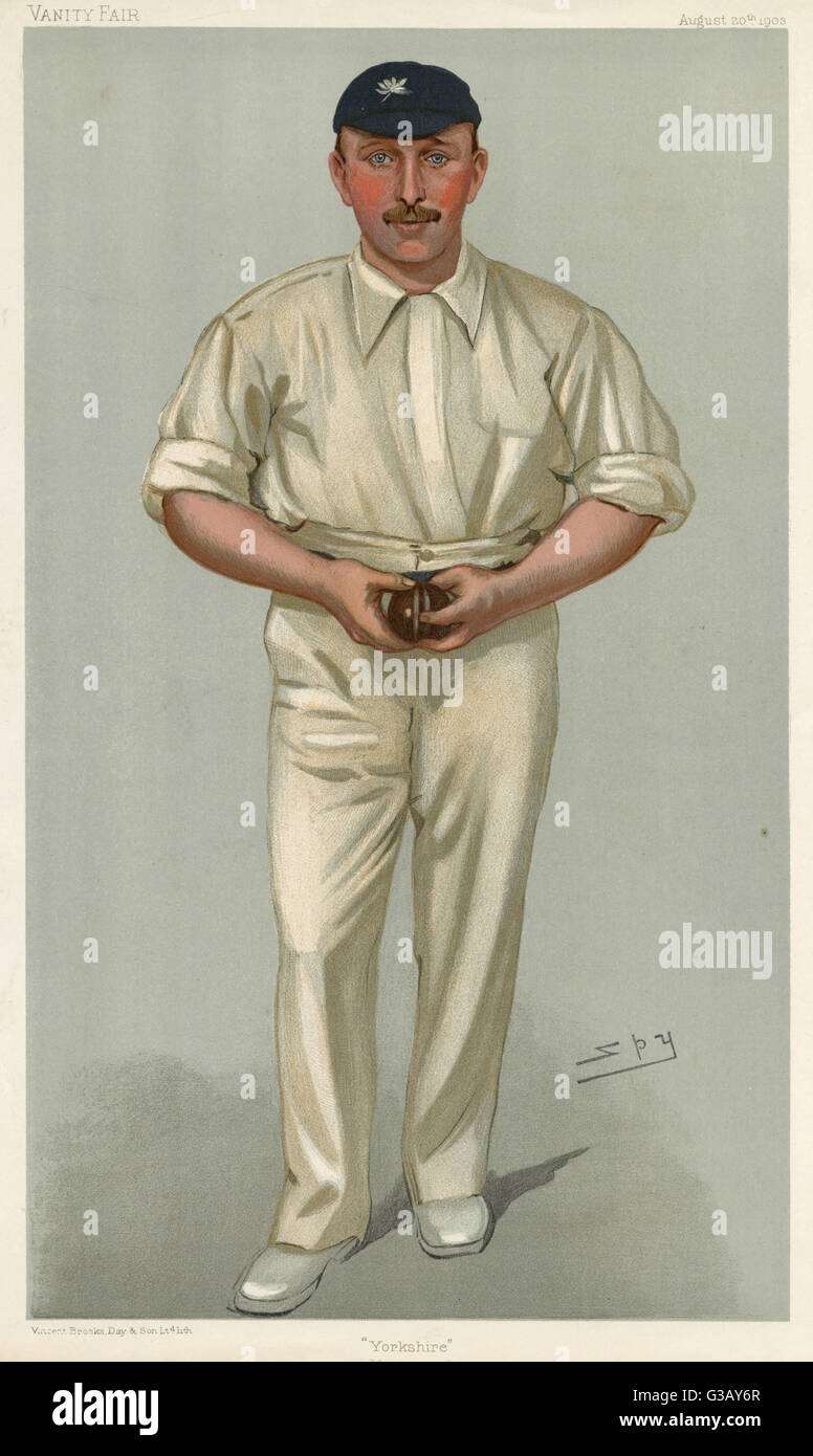 George Hirst,  Yorkshire cricketer (1871-1954)       Date: 1903 - Stock Image