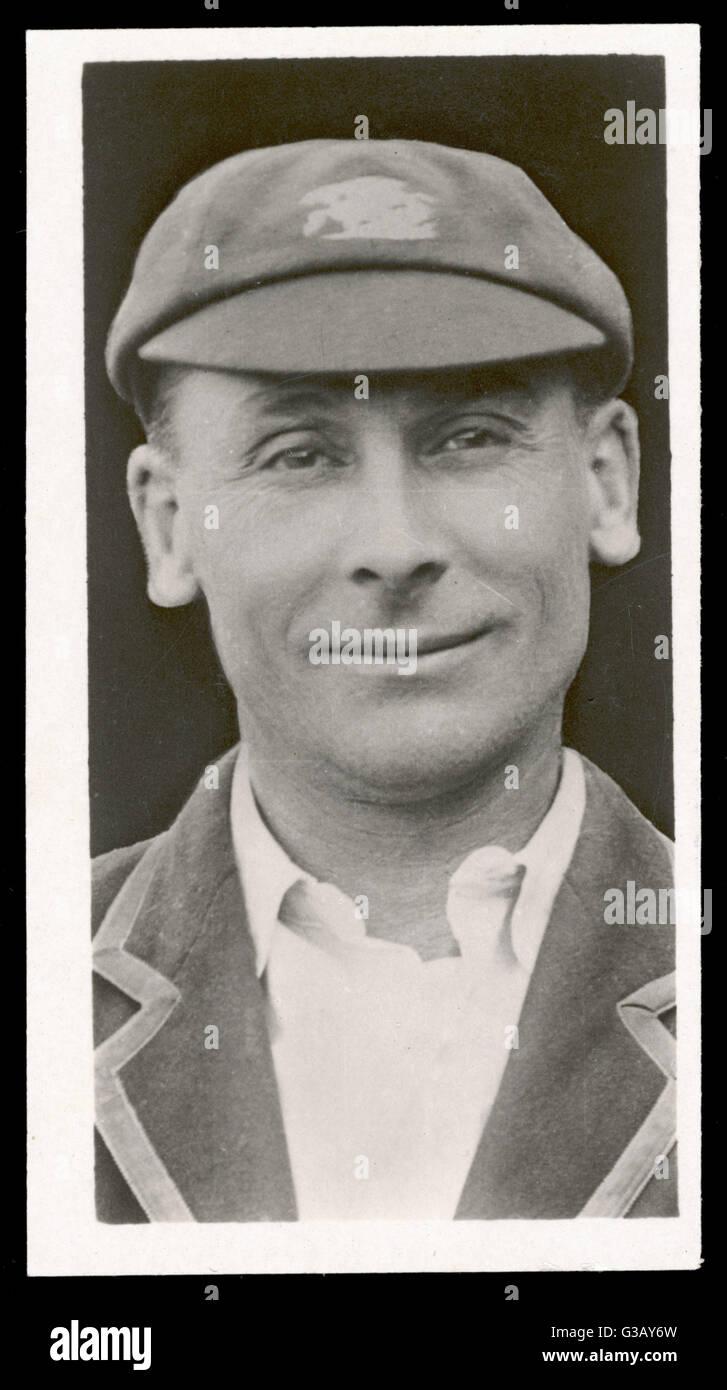 Jack Hobbs (Sir John Berry  Hobbs), English cricketer (1882-1963) - Stock Image