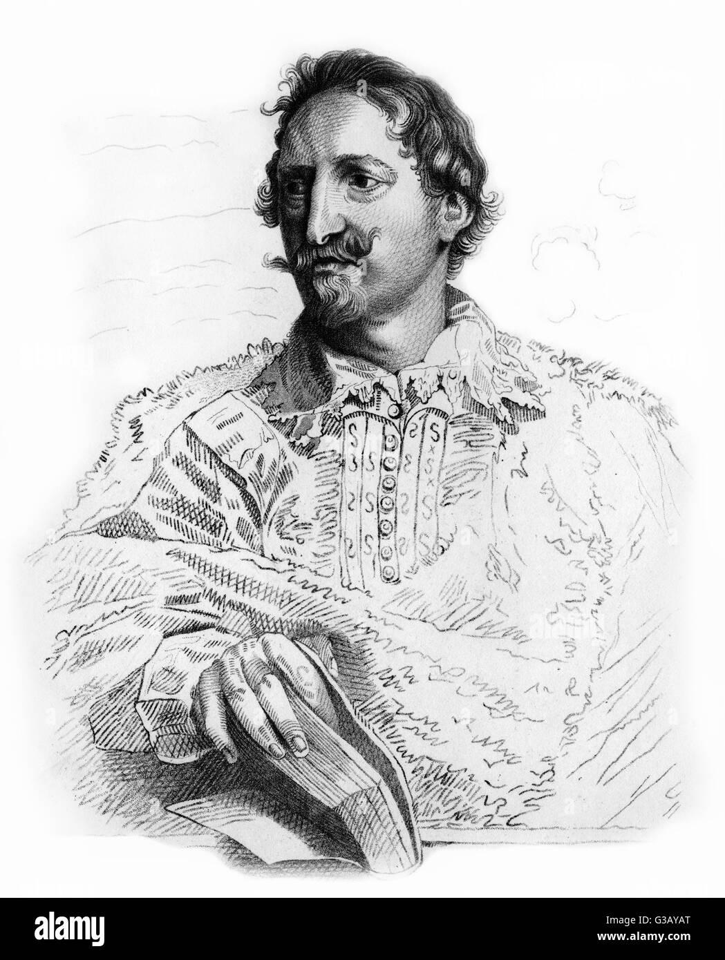 JAN CASPAR GEVARTIUS  Flemish jurist        Date: 1593 - 1666 - Stock Image