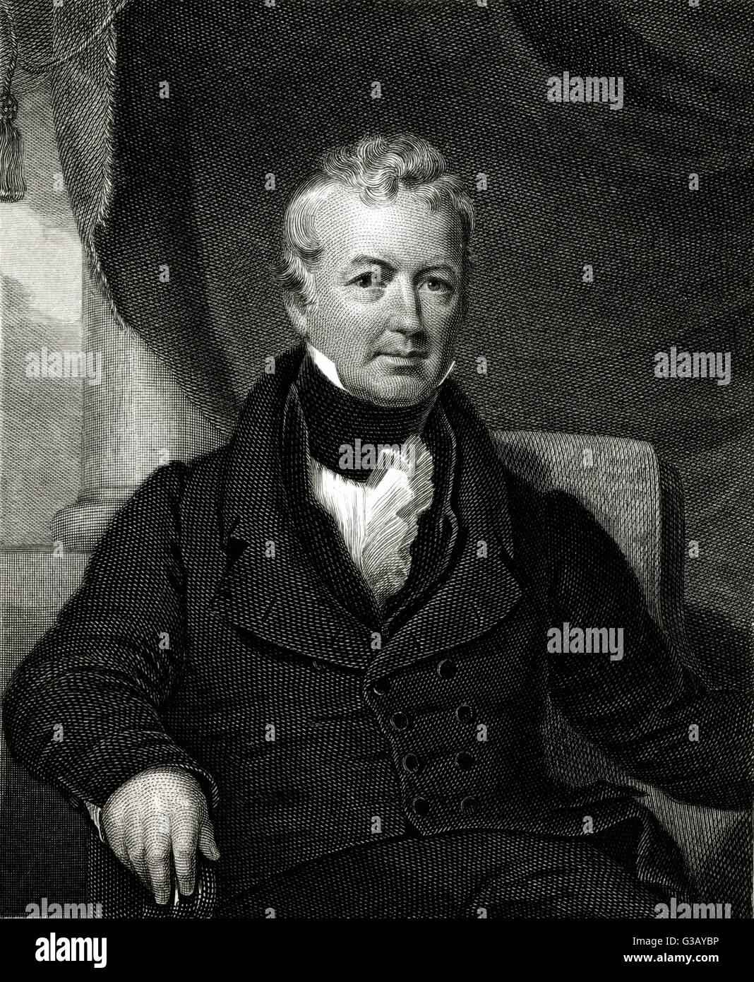 WILLIAM GASTON  American jurist        Date: 1778 - 1844 - Stock Image