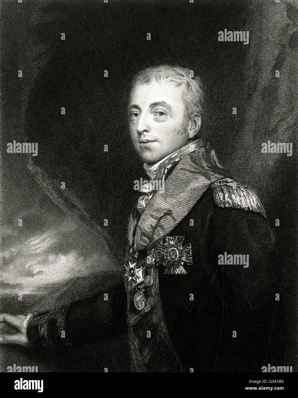ALAN, BARON GARDNER  naval commander        Date: 1742 - 1809 - Stock Image
