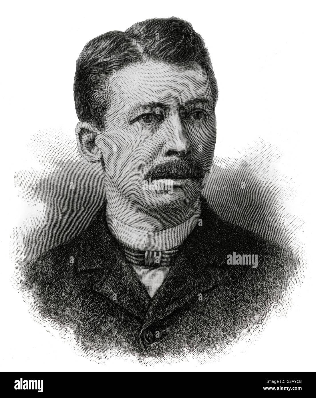 JOEL CHANDLER HARRIS  American author, creator  of 'Uncle Remus'       Date: 1848 - 1908 - Stock Image