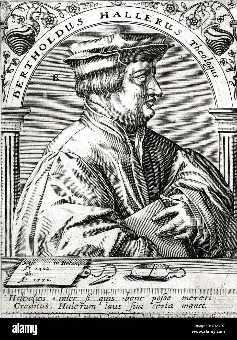 BERTHOLD HALLER  Swiss religious reformer        Date: 1492 - 1536 - Stock Image