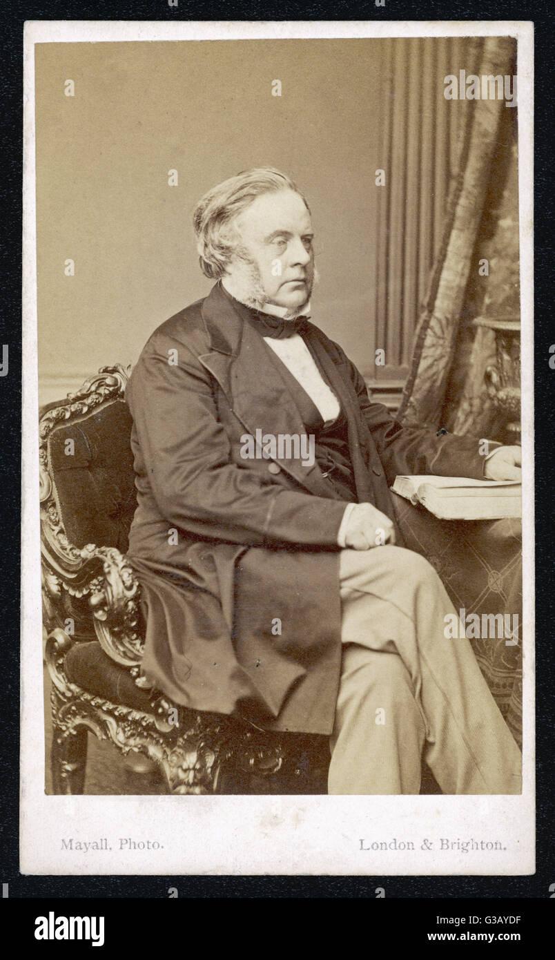 JOHN BRIGHT  Liberal MP        Date: 1811 - 1889 - Stock Image