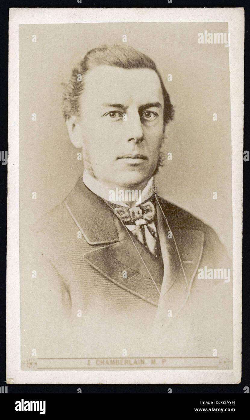 JOSEPH CHAMBERLAIN   Liberal MP         Date: 1836 - 1914 - Stock Image