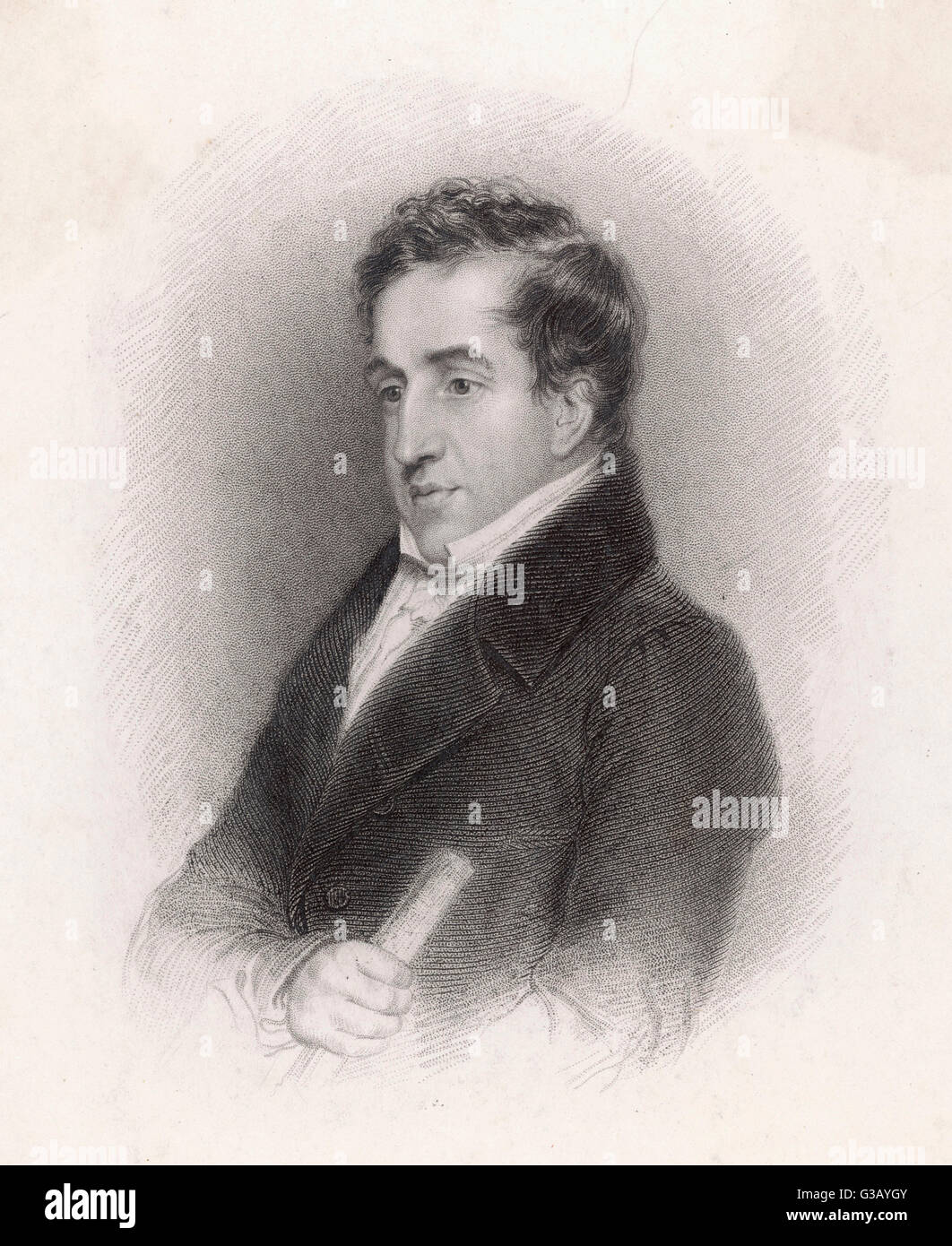 JOHN CAM HOBHOUSE Lord Broughton  statesman and author       Date: 1786 - 1869 - Stock Image