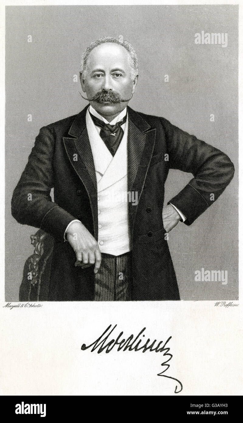 MORITZ, baron von HIRSCH  German businessman and  philanthropist        Date: 1831 - 1896 - Stock Image