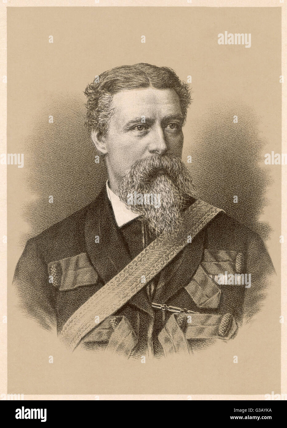 WILLIAM HICKS 'PASHA' English soldier in Egyptian  service, commanded Egyptian  army in the Sudan where - Stock Image