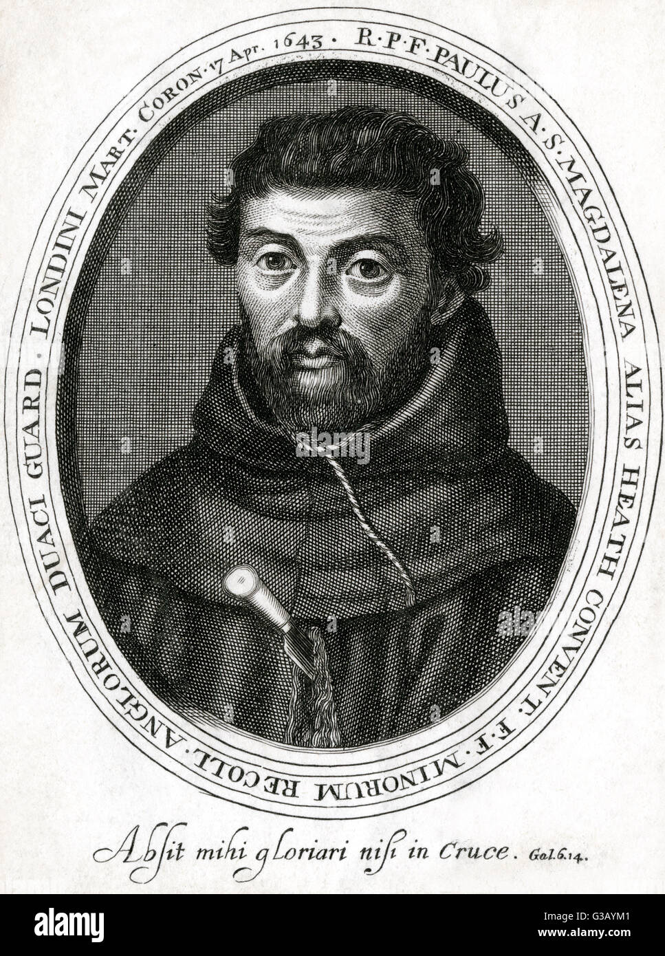HENRY HEATH  Franciscan writer and martyr        Date: 1599 - 1643 - Stock Image
