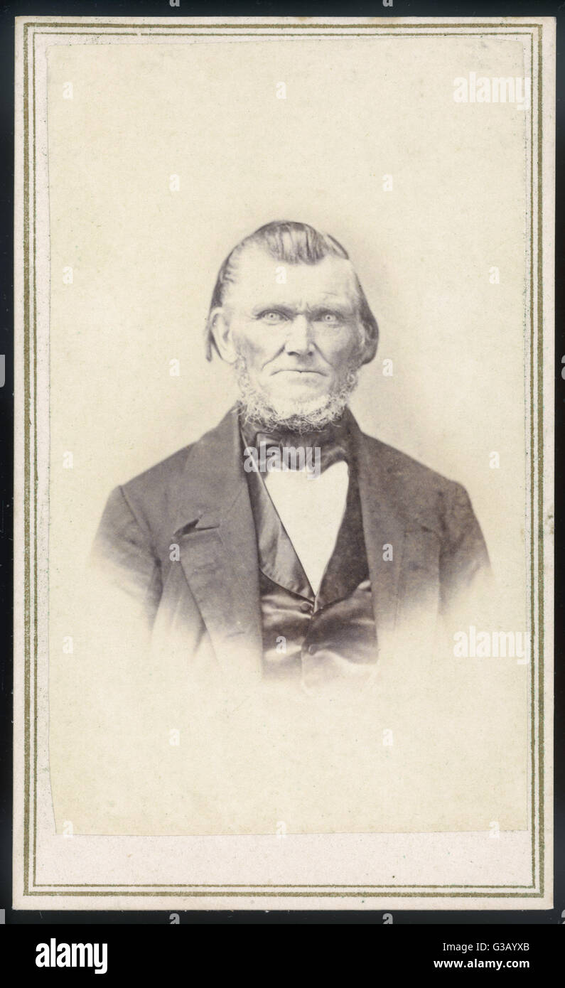 WILFORD WOODRUFF  Mormon leader, photographed in June 1866       Date: 1807 - 1898 - Stock Image