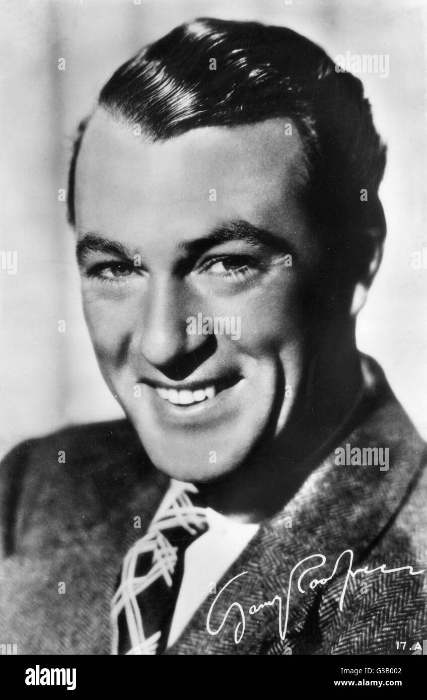 GARY COOPER  American film actor        Date: 1901 - 1961 - Stock Image