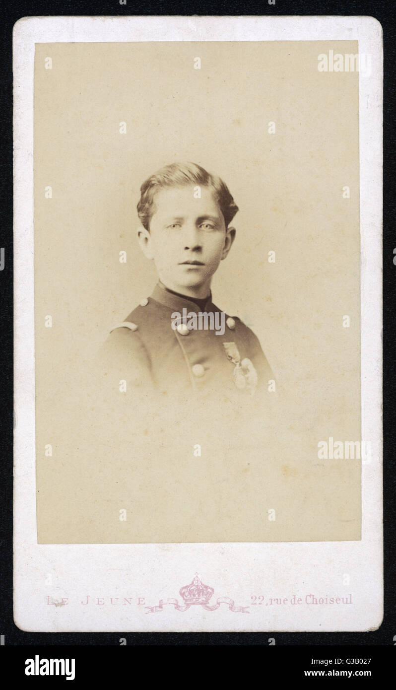 PRINCE LOUIS NAPOLEON 'PRINCE IMPERIAL'  as a young boy       Date: 1856 - 1879 Stock Photo