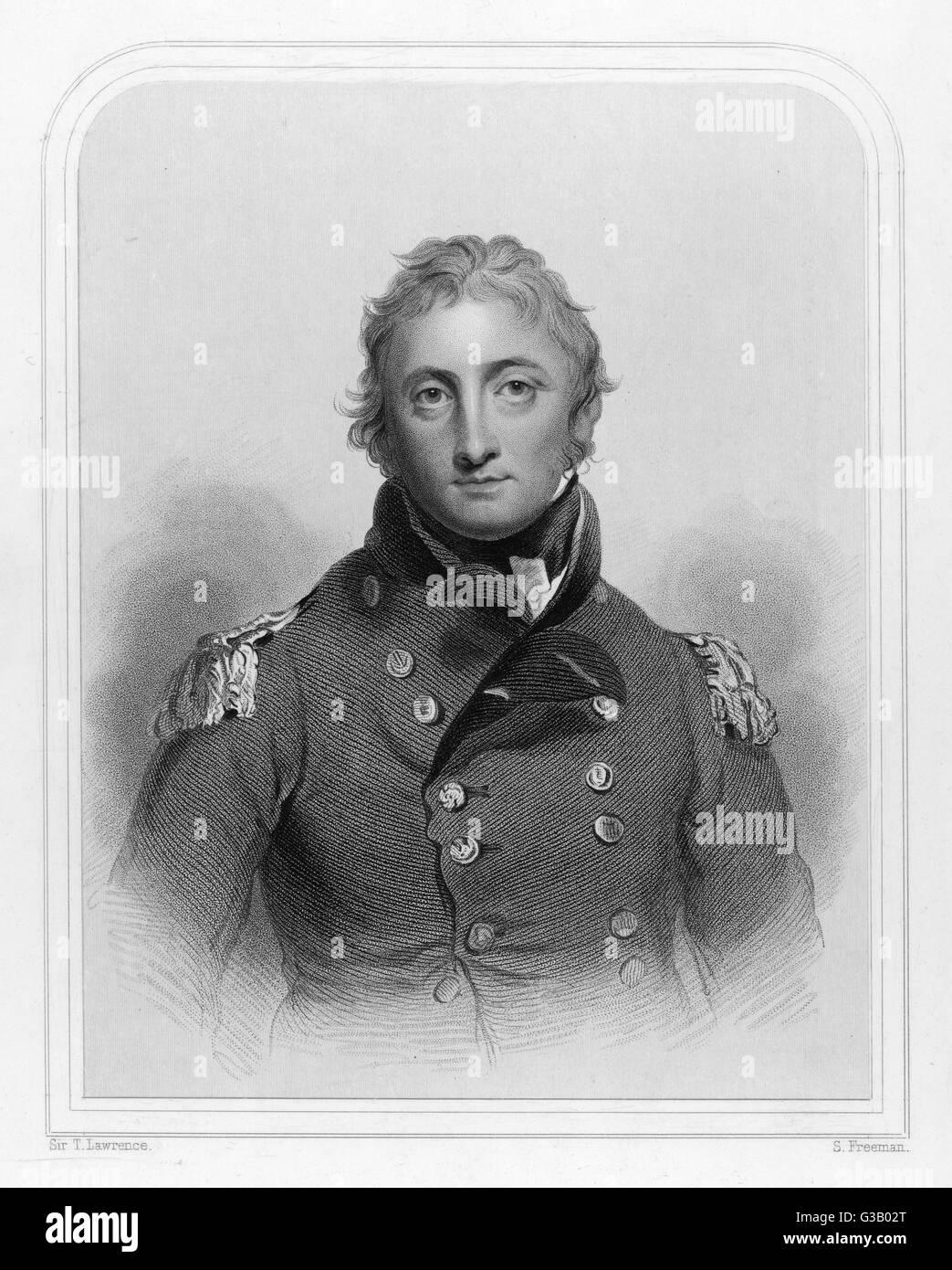 SIR JOHN MOORE Military commander, killed at  the battle of Corunna  (Peninsula campaign) and  buried darkly at Stock Photo