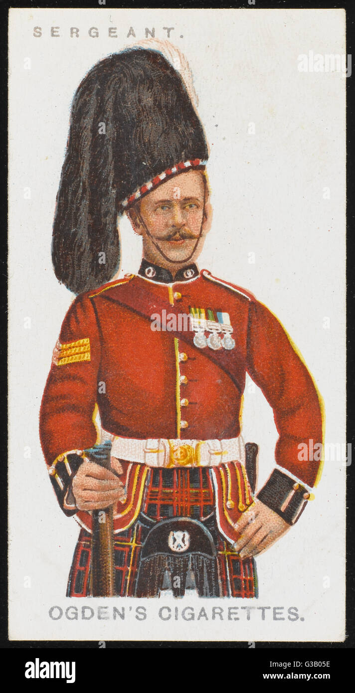 A Sergeant from the Queen's  own Cameron Highlanders. - Stock Image