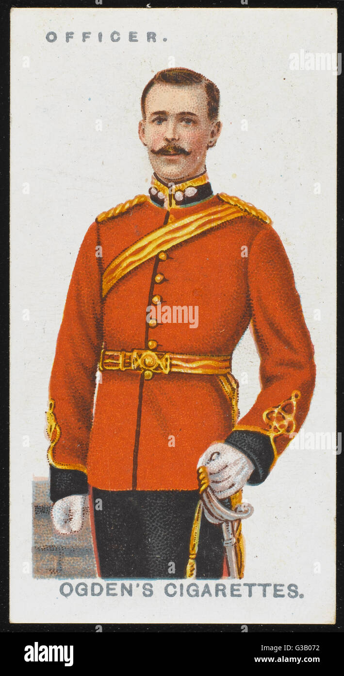 An officer of the Corps of  Royal Engineers. - Stock Image