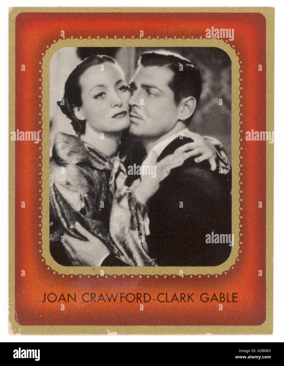 CLARK GABLE  American film actor with Joan Crawford       Date: 1901 - 1960 - Stock Image