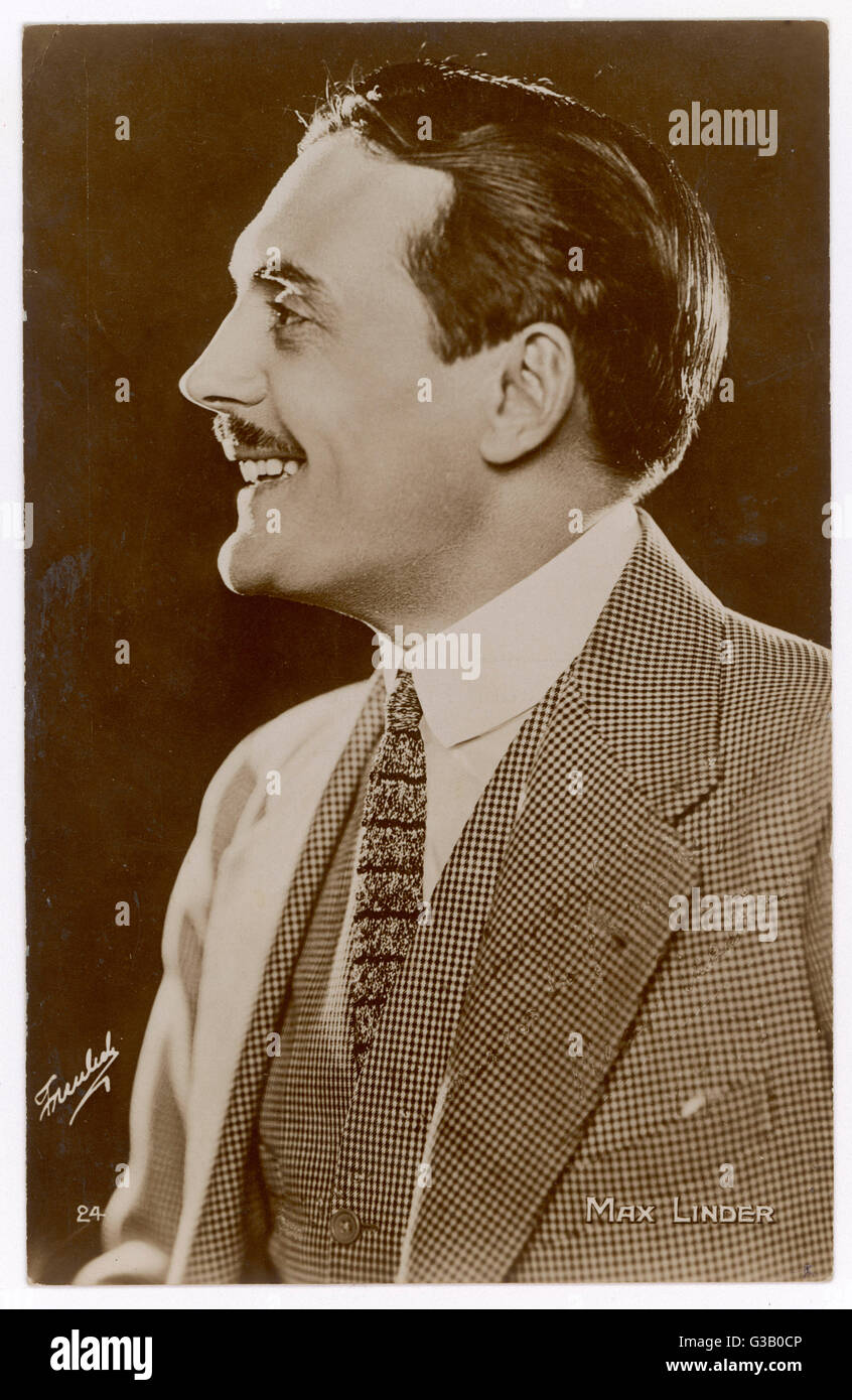 MAX LINDER  French comedian of silent  films, most of which he scripted and directed himself      Date: 1883 - 1925 - Stock Image