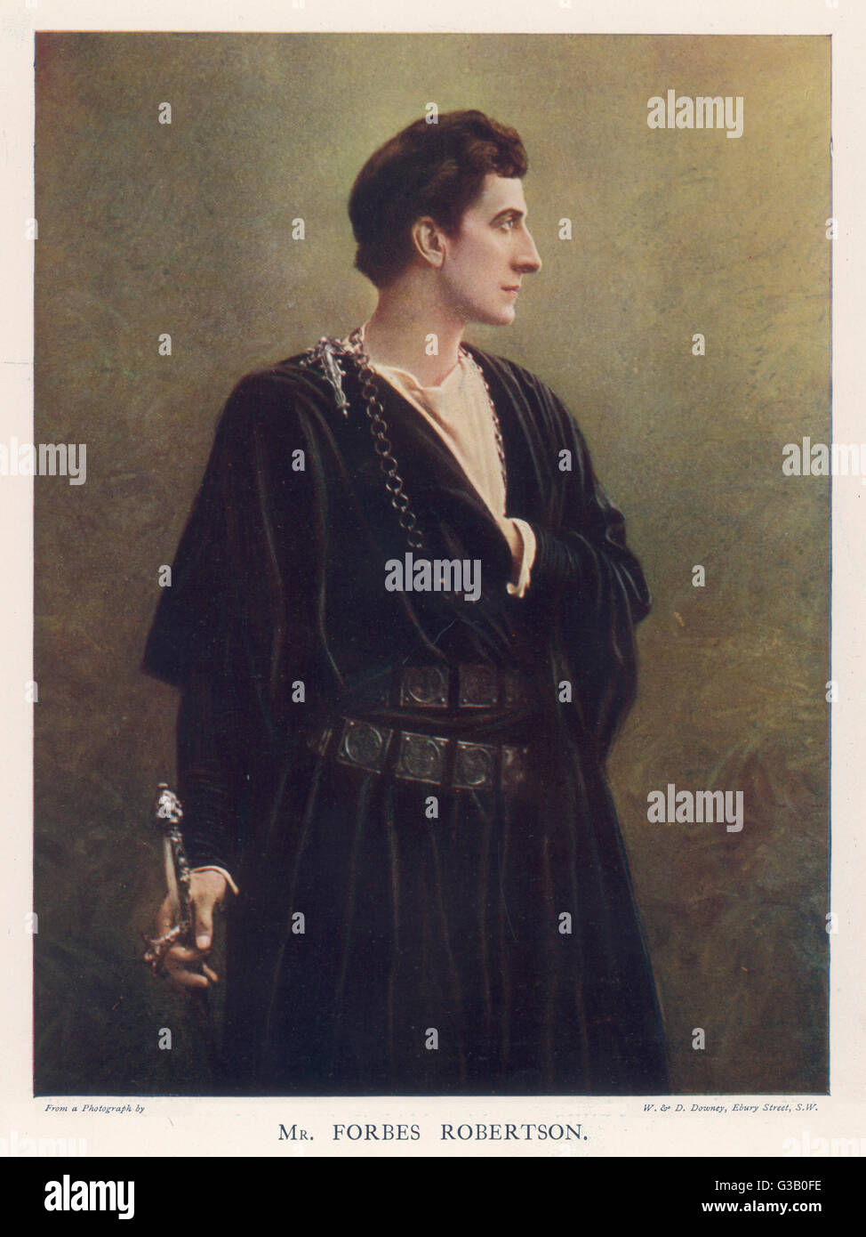 (Sir) JOHNSTON  FORBES-ROBERTSON  English actor-manager  as Hamlet      Date: 1853 - 1937 - Stock Image