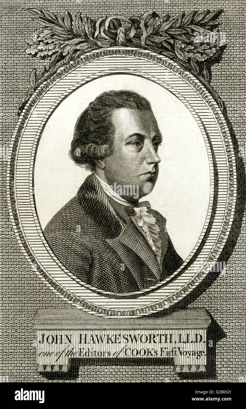 JOHN HAWKESWORTH  English writer. Wrote the play  'Edgar and Emmeline' in 1761.       Date: 1715 - 1773 - Stock Image