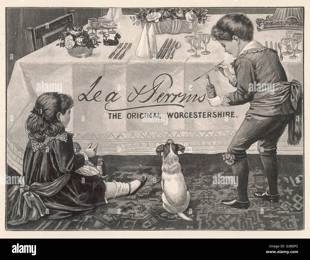 An advertisement for Lea  & Perrins Original  Worcestershire Sauce.        Date: 1904 - Stock Image