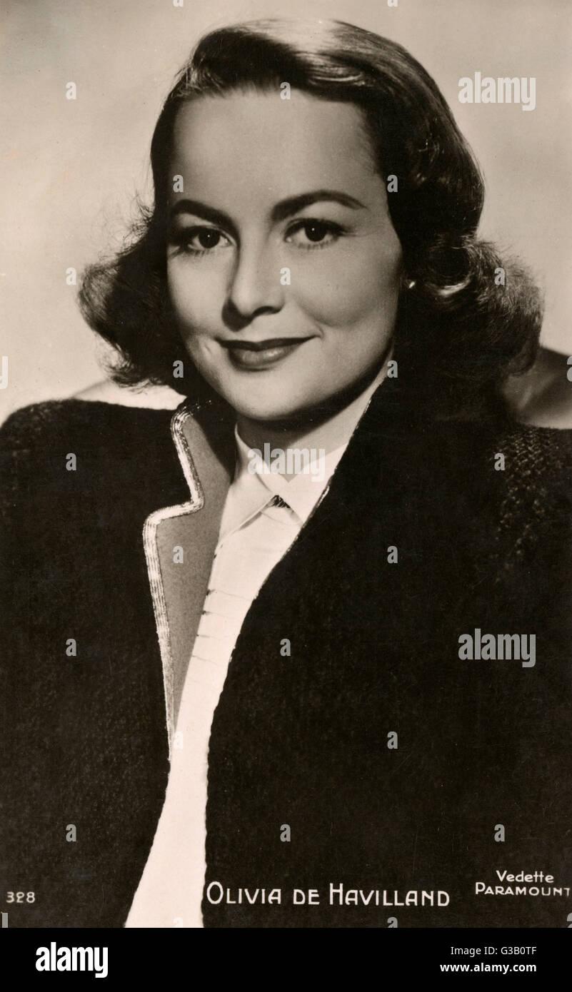 OLIVIA DE HAVILLAND  British born film actress based in America       Date: 1916 - - Stock Image