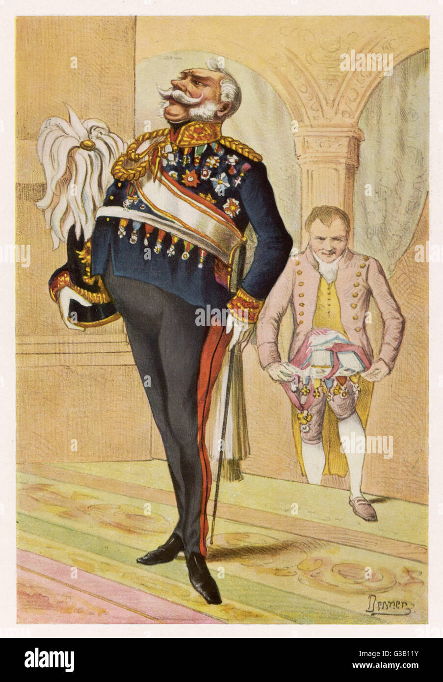 Prussian General:  a satirical view        Date: 1862 - Stock Image