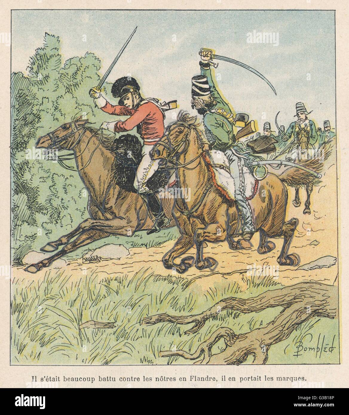 NAPOLEONIC WARS  A cavalry skirmish        Date: circa 1794 - Stock Image