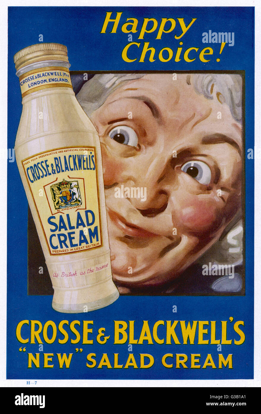 Image result for CROSS AND BLACKWELL 1950S