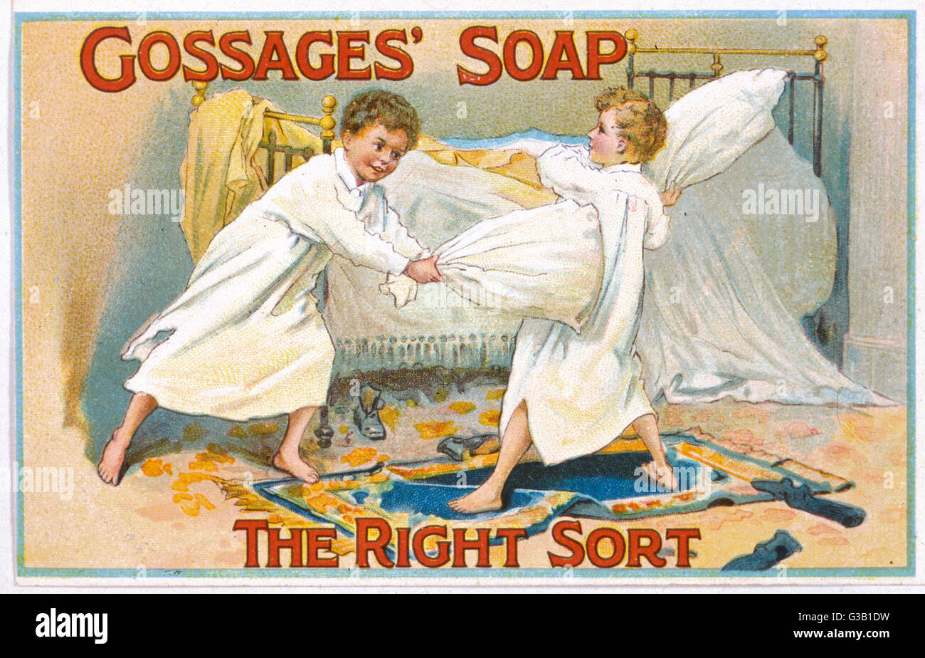 Gossage's Soap - the right sort        Date: circa 1900 - Stock Image