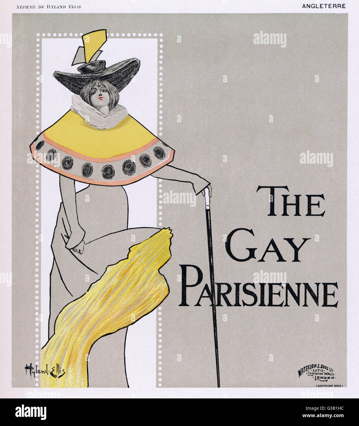 Poster for  The Gay Parisienne        Date: circa 1896 - Stock Image