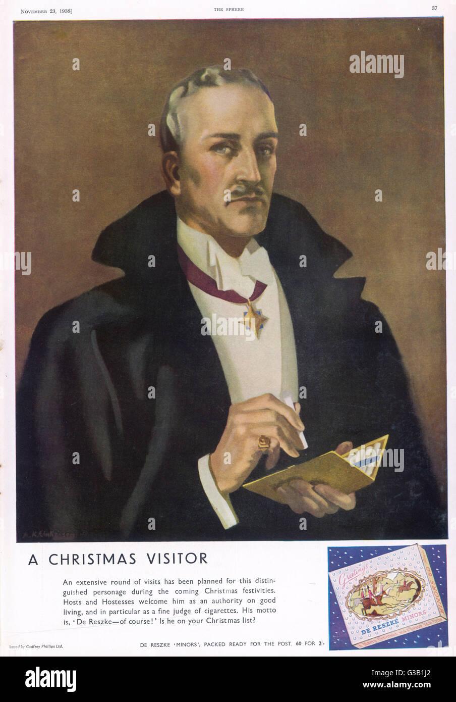De Reszke cigarettes -  a distinguished personage        Date: 1934 - Stock Image