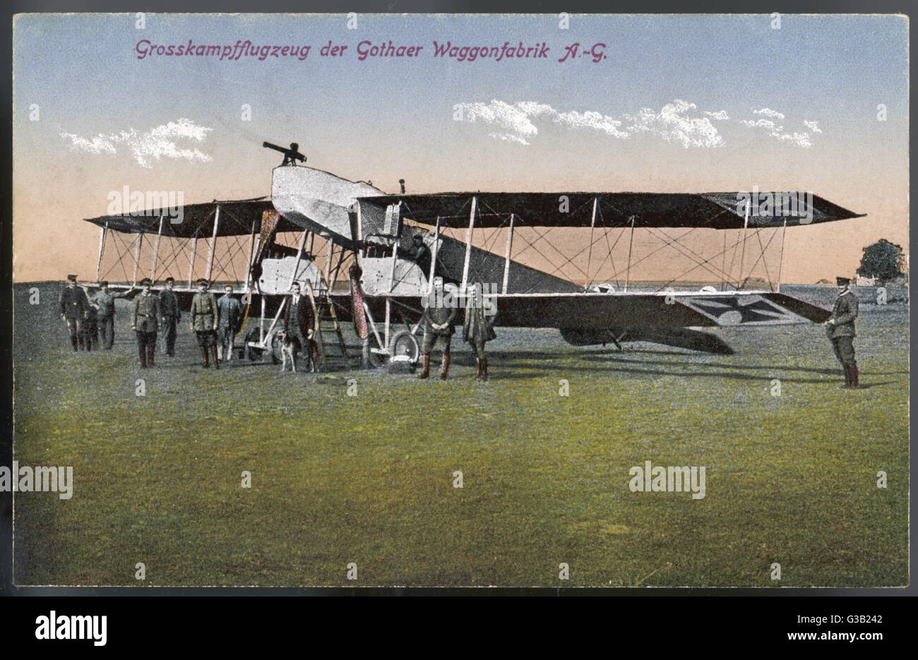 The German Gotha bomber :  there were several variants of  this plane, but this is  probably the earliest, the G1. Stock Photo