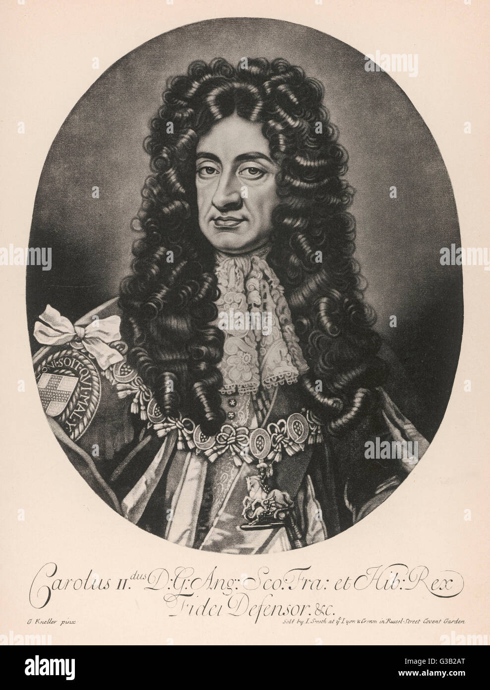 CHARLES II  reigned 1660-85        Date: 1630 - 1685 - Stock Image