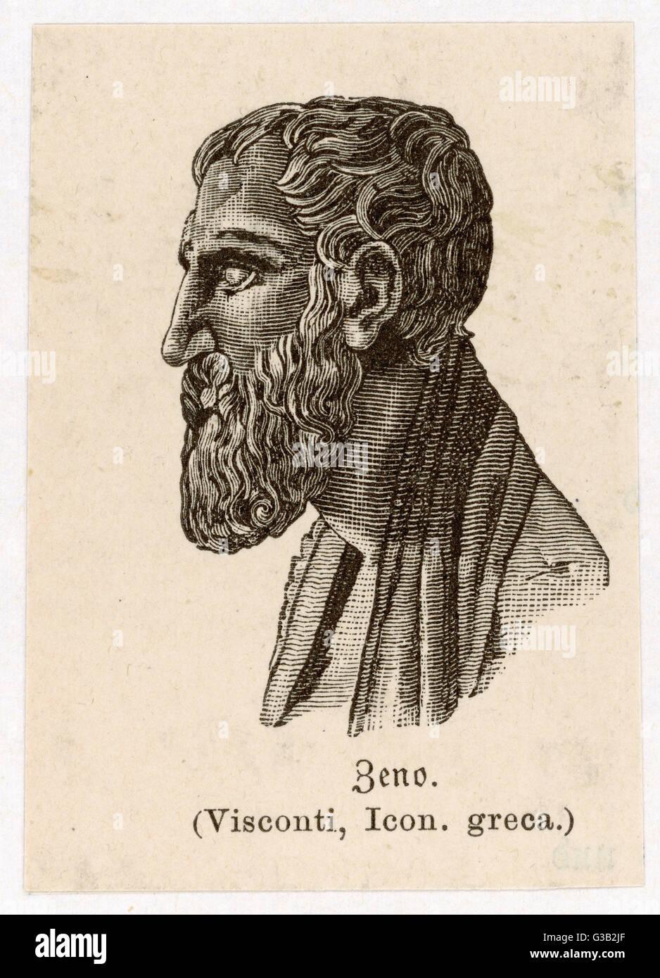 Zeno of Citium (circa 334 BCcirca 262 BC) - a Greek language philosopher of Cyprian origin from Citium -  founder - Stock Image