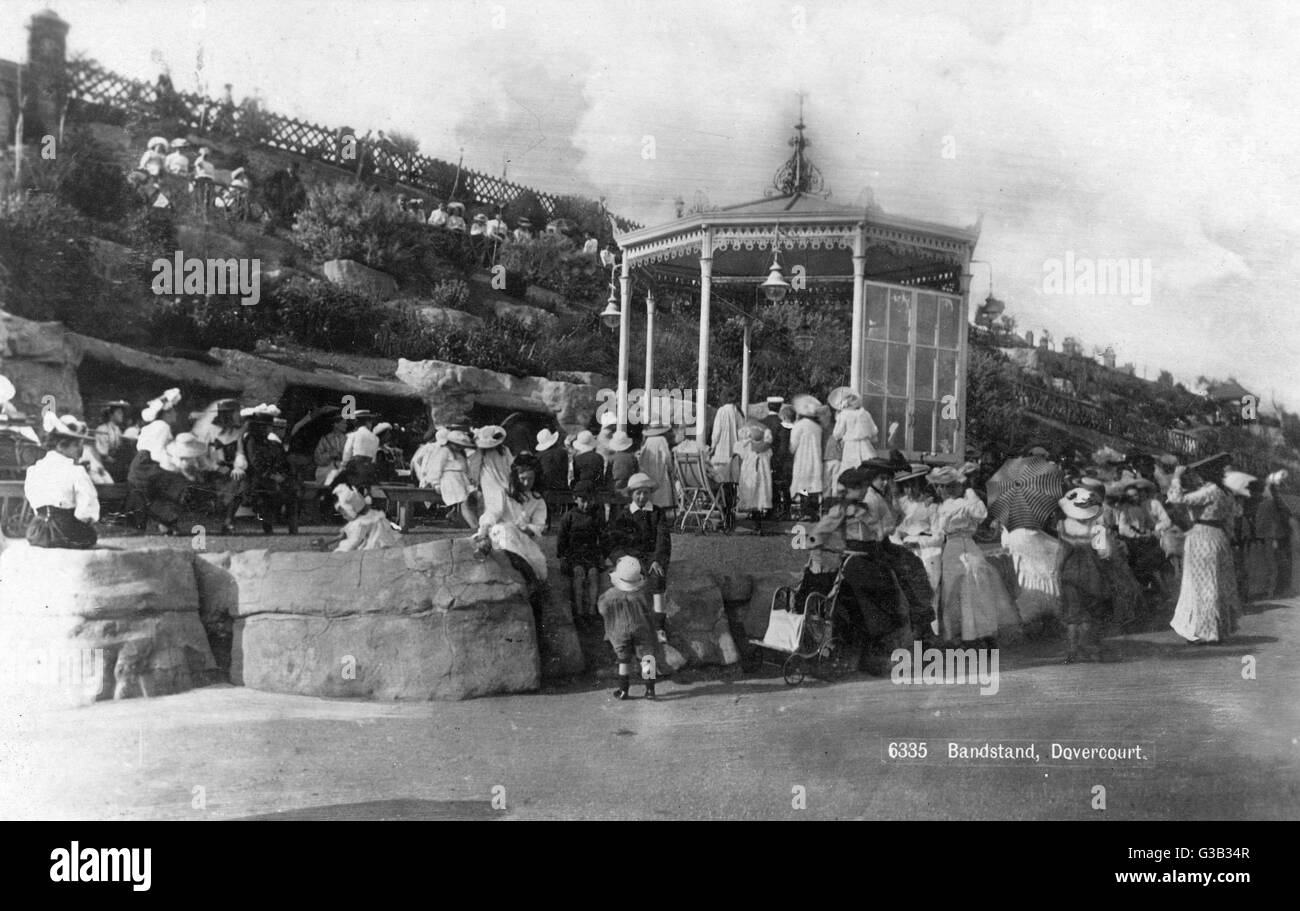 Dovercourt, Essex: the bandstand        Date: 1909 - Stock Image