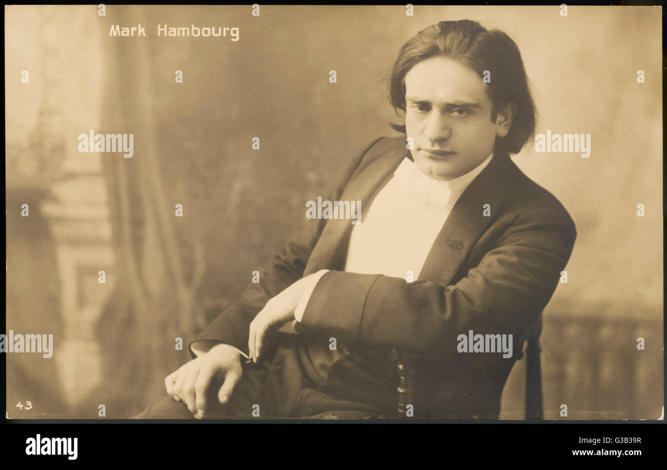 MARK HAMBOURG  Russian-born pianist        Date: 1879 - 1960 - Stock Image