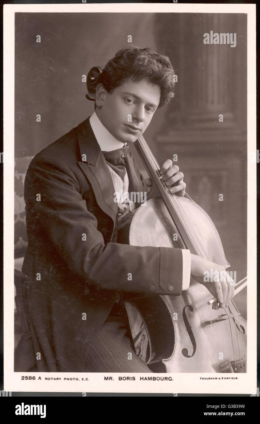 BORIS HAMBOURG  Russian-born cellist        Date: circa 1909 - Stock Image