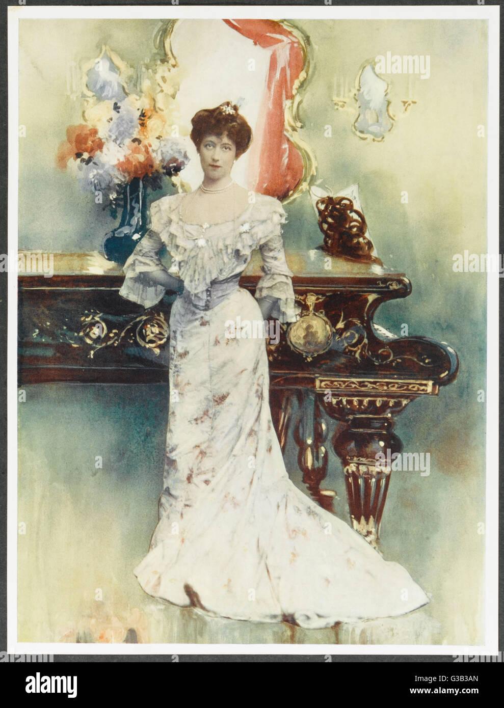 ELLIS JEFFREYS  Actress in  'The Sacrament of Judas'       Date: 1868 - 1943 - Stock Image