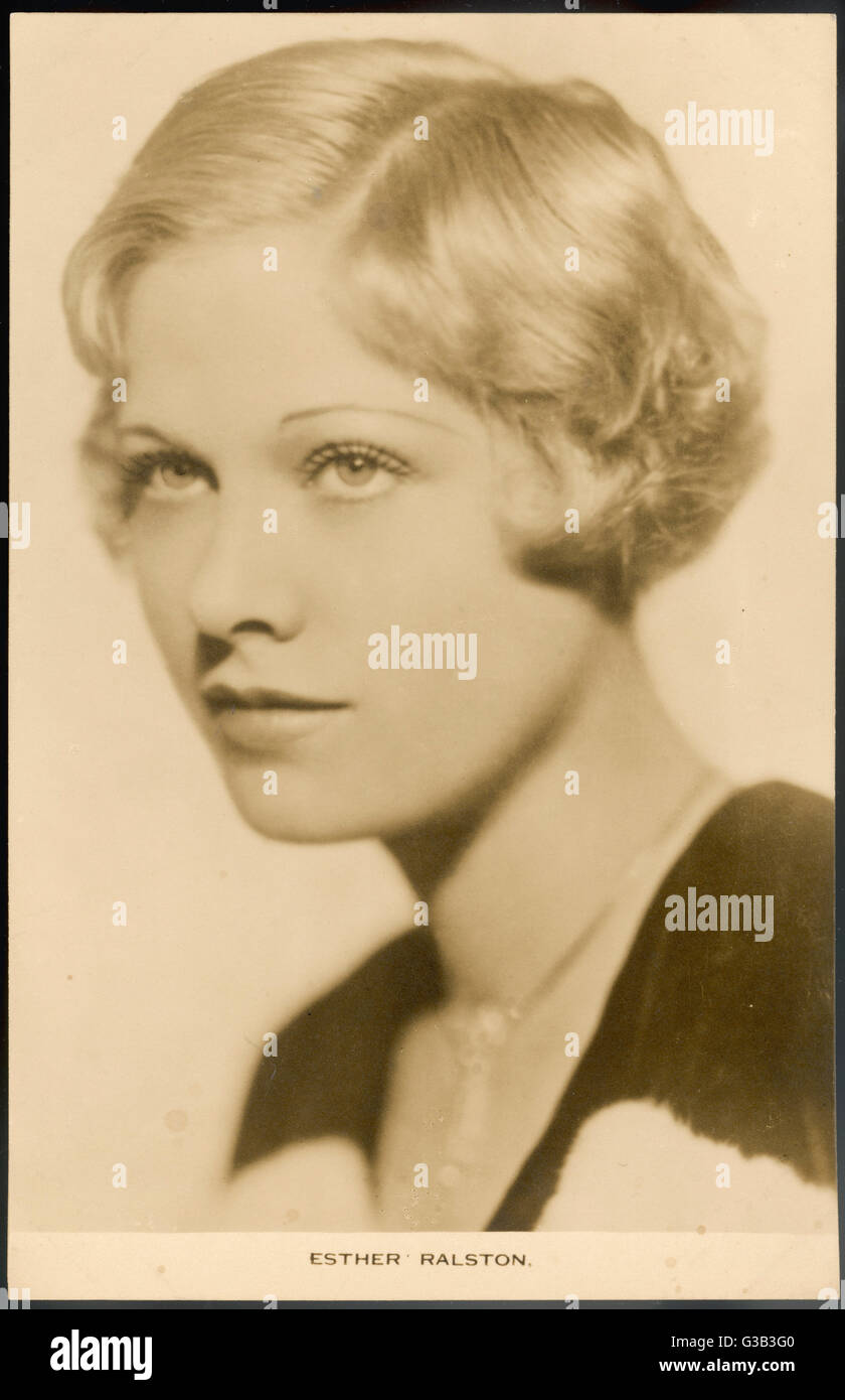 ESTHER RALSTON  American actress in 1920s and 30s films       Date: 1902 - - Stock Image