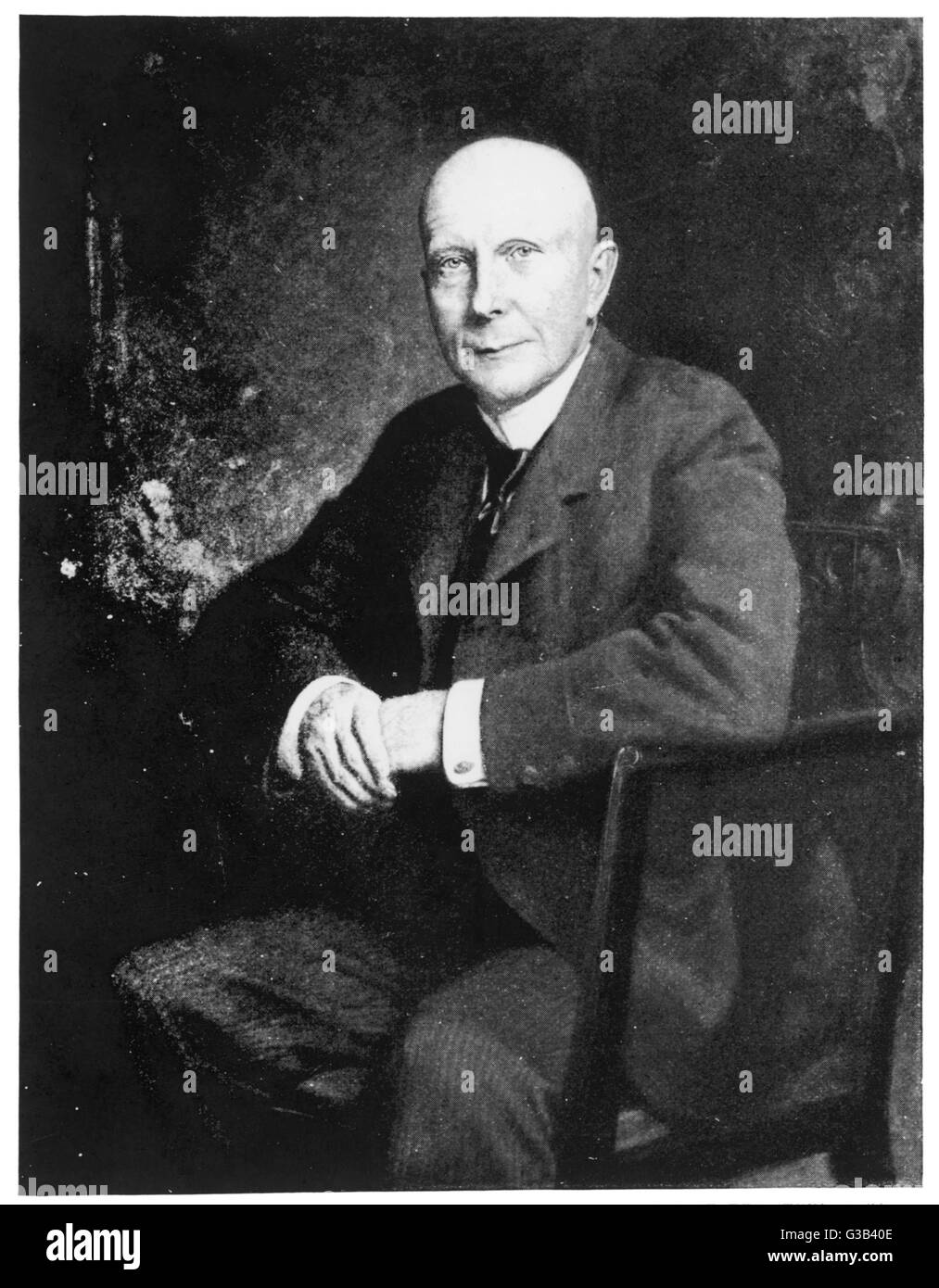 JOHN DAVISON ROCKEFELLER  US Financier. Received nearly  90 million dollars in cash and  stock due to the formation - Stock Image