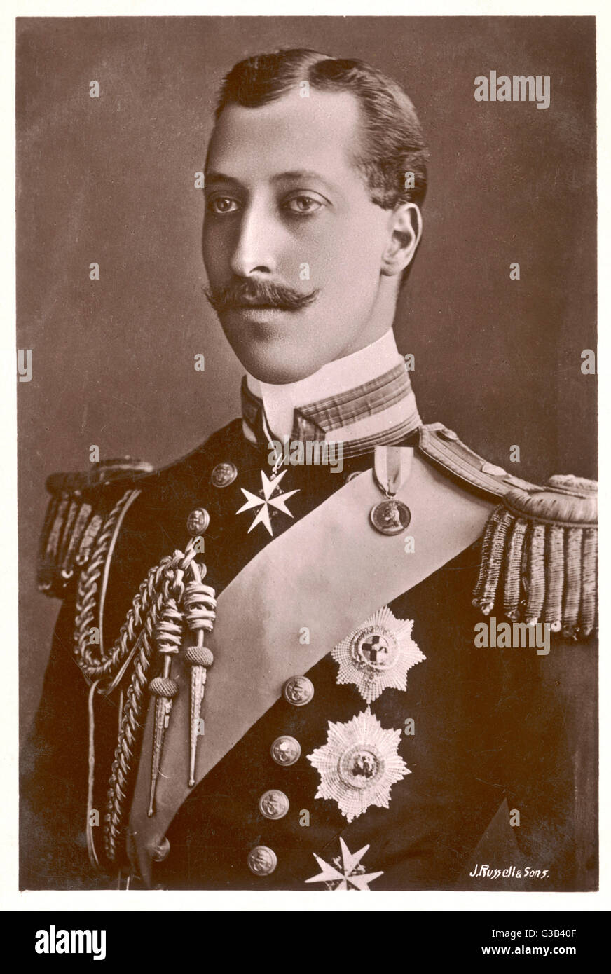 ALBERT VICTOR, DUKE OF CLARENCE AND AVONDALE  Elder son of Edward VII, died  of pneumonia at the age of 28      - Stock Image