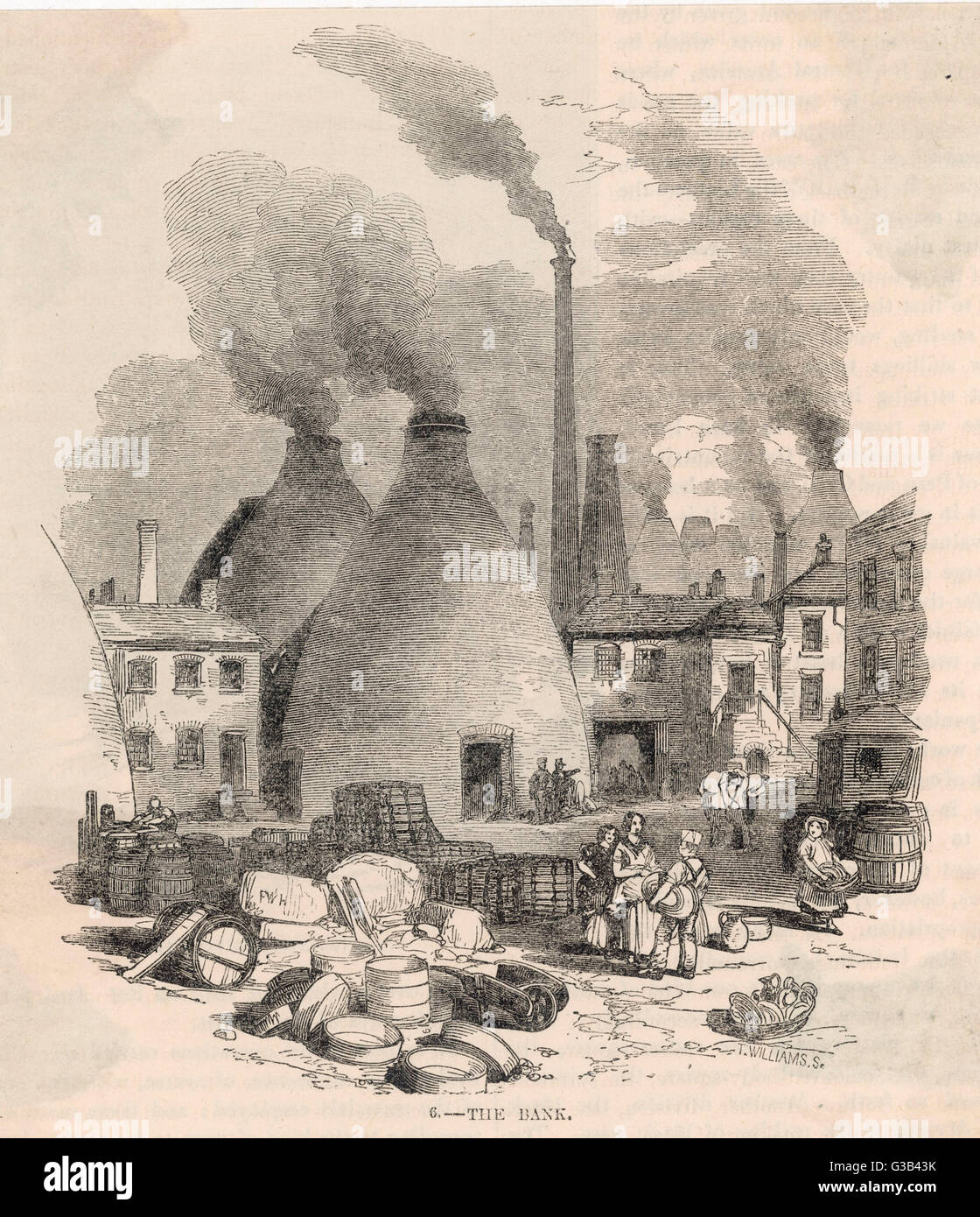 A scene at the Staffordshire  potteries.         Date: 1852 - Stock Image