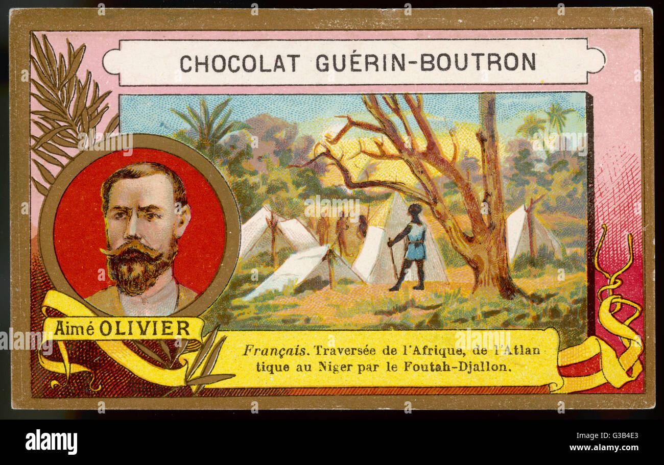 AIME OLIVIER French explorer who crossed  central Africa from the  Atlantic seaboard to the  Niger, via the Foutah - Stock Image